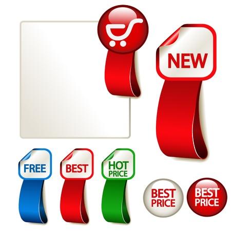 hot announcement: Vector advertising labels