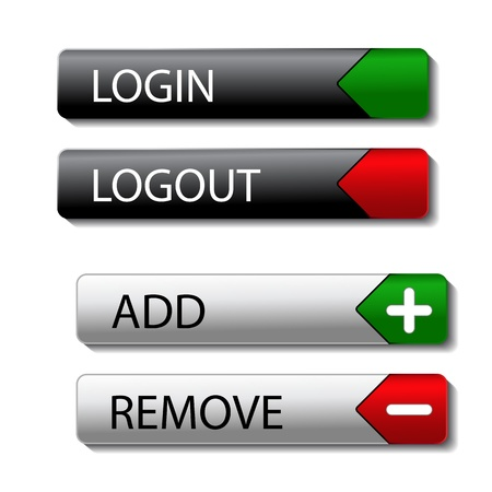 Vector set of buttons Vector
