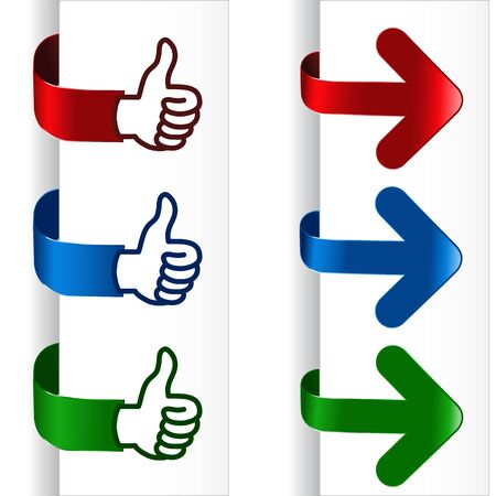 Vector navigation hands and arrows Stock Vector - 11512948