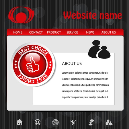 Vector web navigation template Stock Vector - 11513114