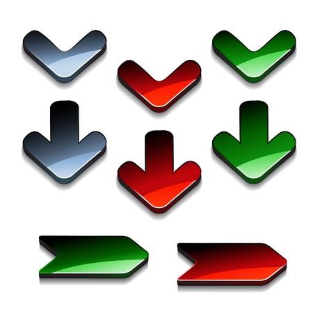 Vector arrow buttons Stock Vector - 11512960