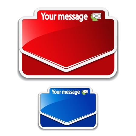 message vector: Etiquetas vectoriales mensaje Vectores