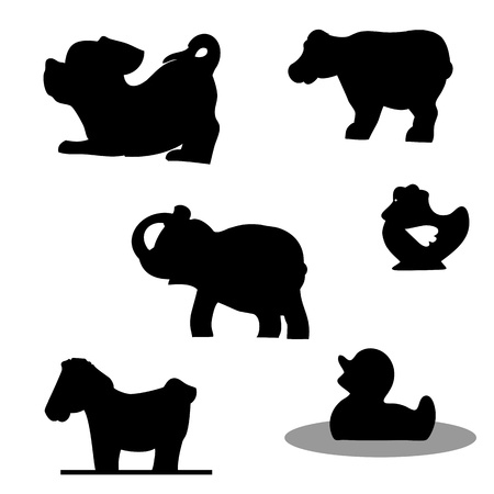 hoof: Vector set of animals Illustration