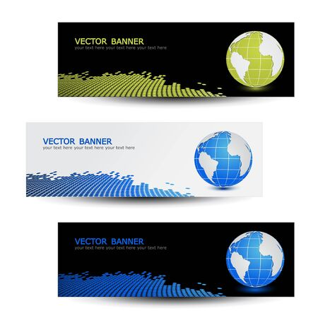 Vector set of headers Vector