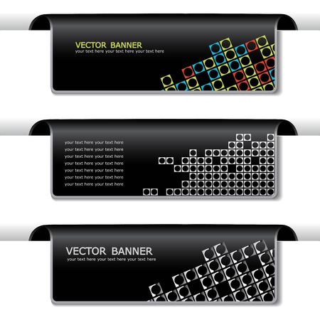 squared: Vector set of banners Illustration