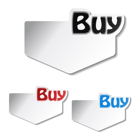Vector buy stickers Stock Vector - 11513348