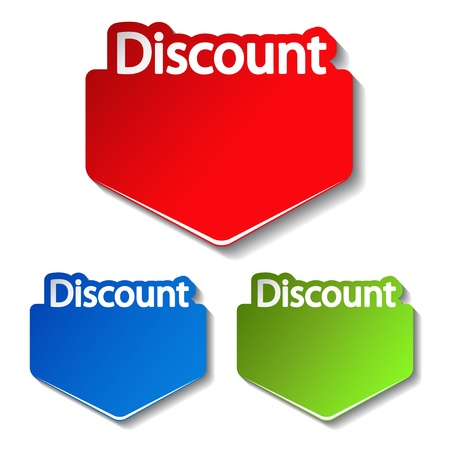 Vector discount labels Vector