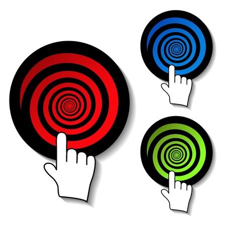 dart board: Vector advertisement dartboards Illustration