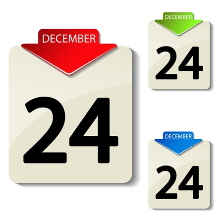 organizer page: Vector calendar Illustration