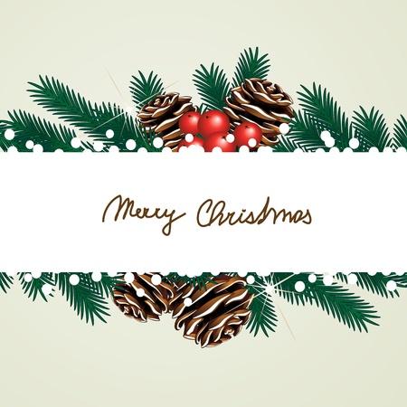berry: Vector Christmas card Illustration