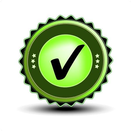 tick mark: Vector bien la etiqueta