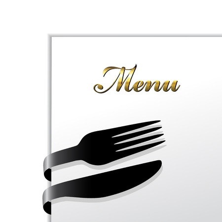 menu card design: Vector restaurant menu