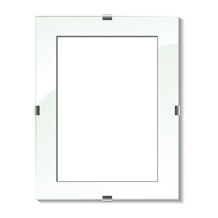 Vector glass frame Vector