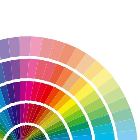 painter palette: Vector colour card