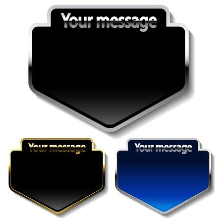 message vector: Botones de vector de mensaje Vectores