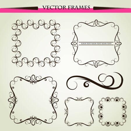 Vector ornament frames Vector