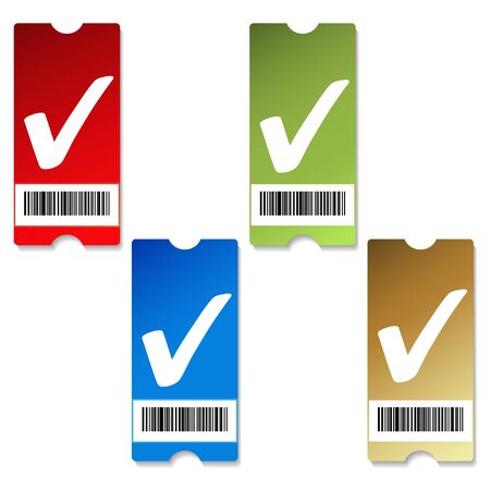 green coupon: Vector price tags