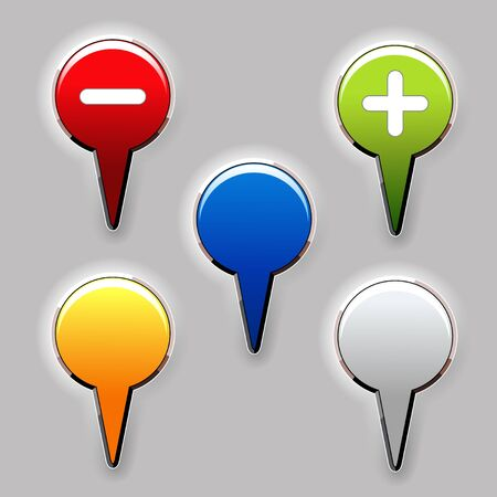 Vector set of color buttons Vector