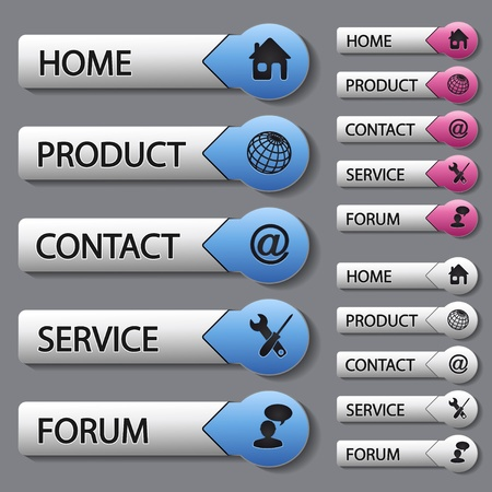 home products: Vector web navigation templates