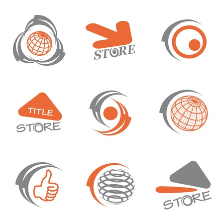 Vector set of logos Illustration