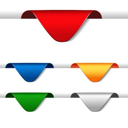 menu button: Vector set of announcement arrows Illustration