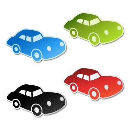 Vector stickers of car Vector