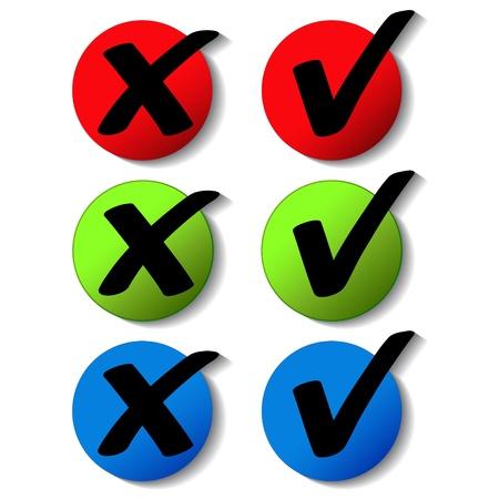 Vector check mark buttons Vector