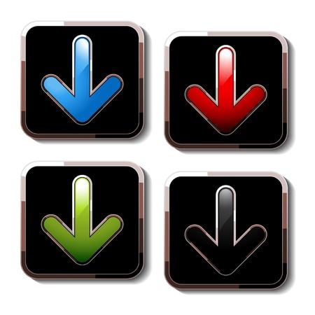 Vector download buttons Vector