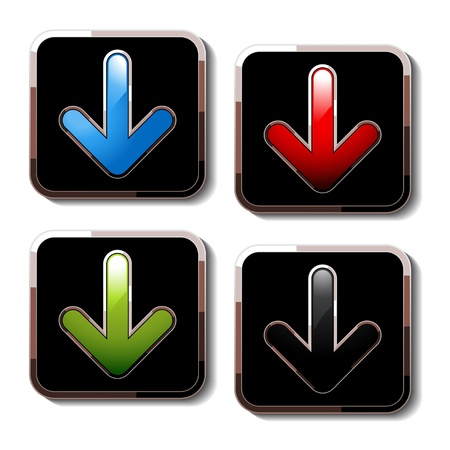 illuminate: Vector download buttons