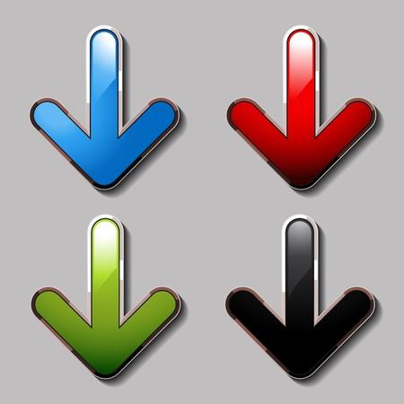 vector download: Vector download arrows Illustration