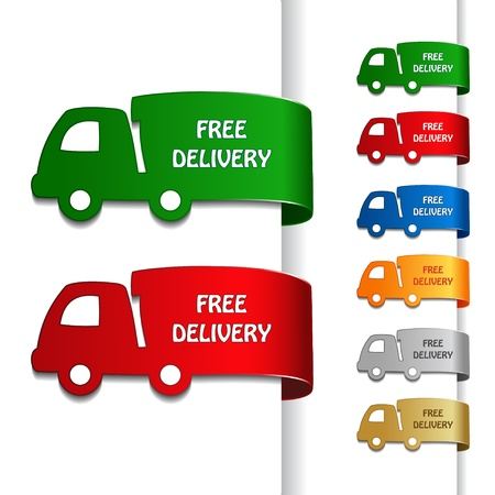 delivery car: Vector cars of free delivery Illustration