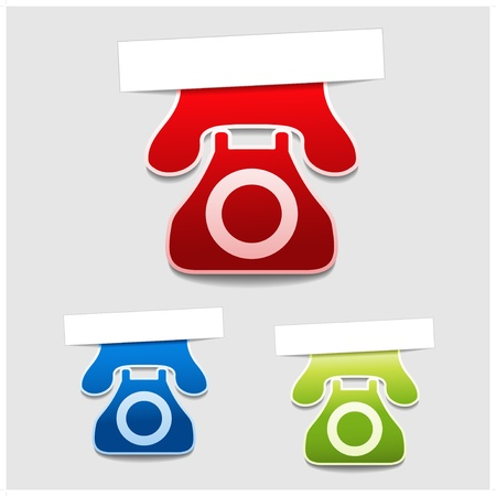 Vector phone labels Stock Vector - 11513394