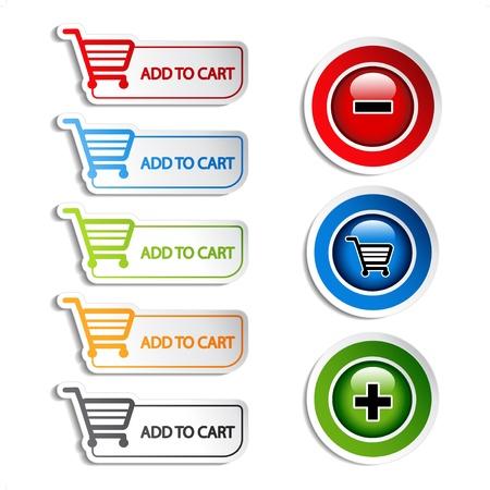 Vector complemento de la compra de eliminación de compra Artículo