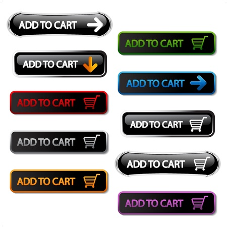 add to cart: Vector buttons - add to cart