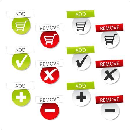 Vector add delete shopping cart item Stock Vector - 11513388