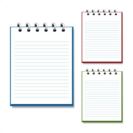 ring binder: Vector blank open notebook