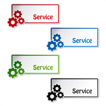 technical support: Vector service labels
