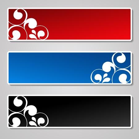 header design: Vector set of ornament banners Illustration