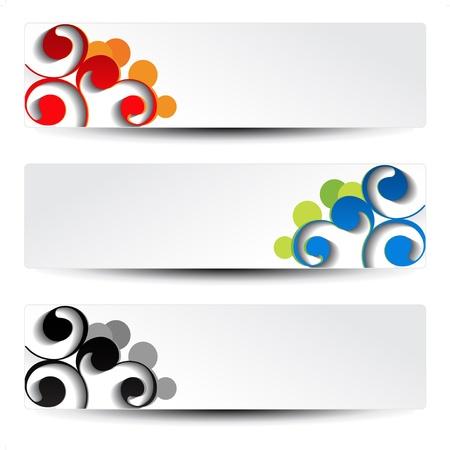 Vector set van het ornament banners Stock Illustratie