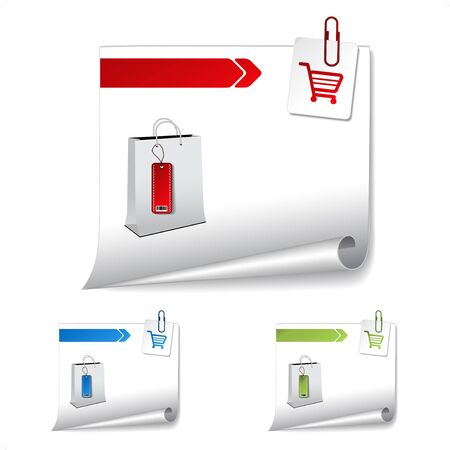 shopping cart button: Vector product banner for web