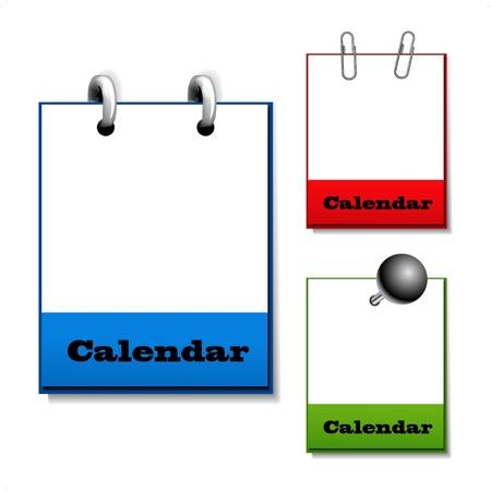 Vector set of hanging open calendars Stock Vector - 11651788