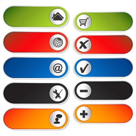 Vector toevoegen en verwijderen item en webnavigatie Stock Illustratie