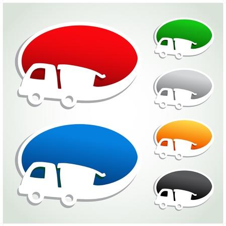 gratis: Vector advertisement bubbles with car