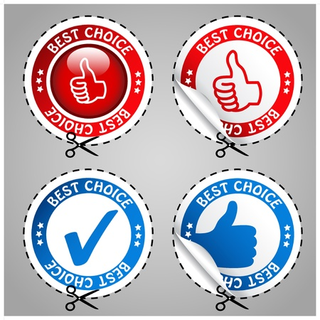 Vector best choice stickers Vector