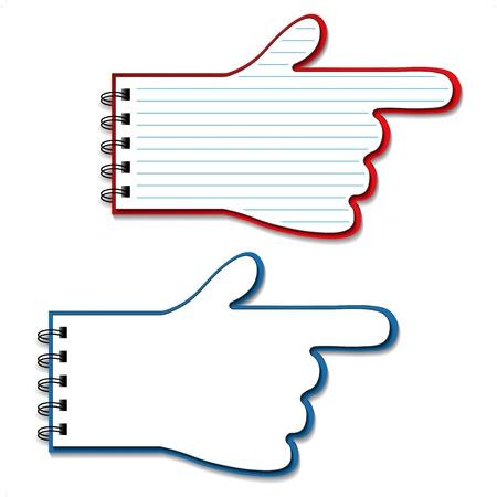 Vector leeg bekleed notebooks - wijzers van de hand Stock Illustratie