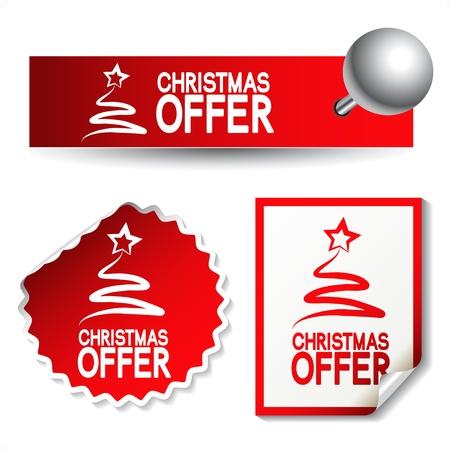 Vector Weihnachten Angebot Aufkleber Vektorgrafik