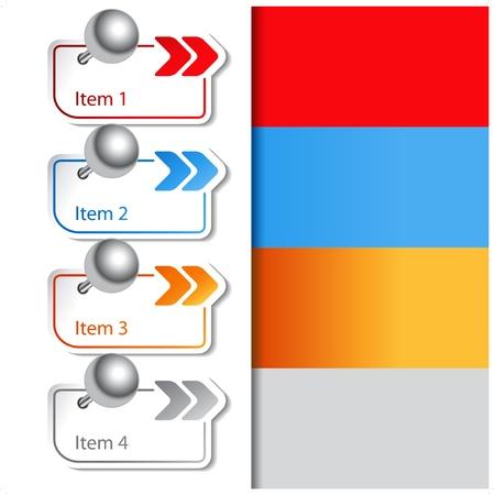 Vector pointer of arrow - web navigation template Vector