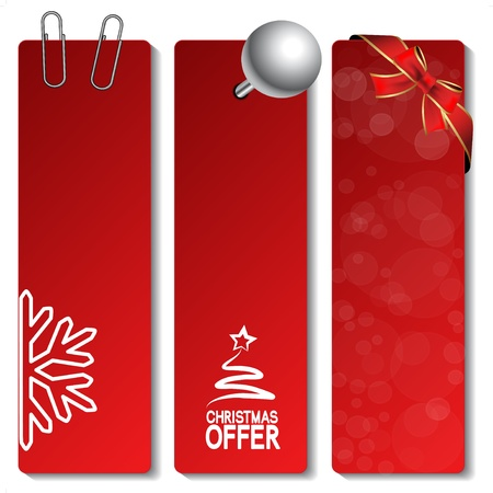Vector Christmas offer banners - EPS 10 Vector