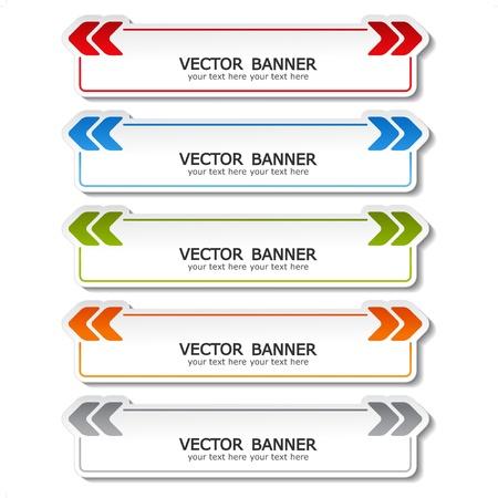 vector set van kleur banners met pijlen Stock Illustratie