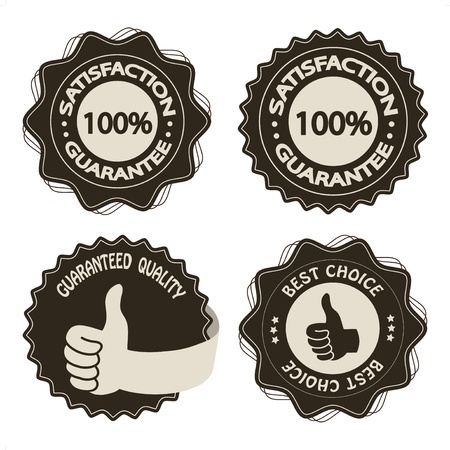 best choice: Vector brown satisfaction guarantee labels